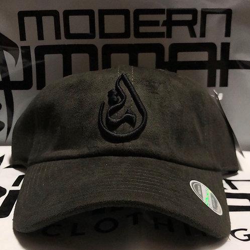 """PREMIUM """"Olive SUEDE & Black"""" - Ummah Logo Dad Cap"""