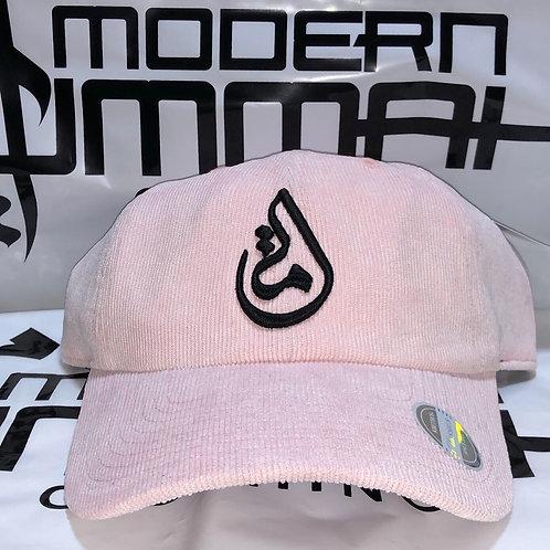 """PREMIUM """"Pink CORDUROY & Black"""" - Ummah Logo Dad Cap"""