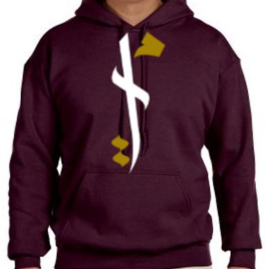 """Burgundy"" Ummah Logo Hoodie"
