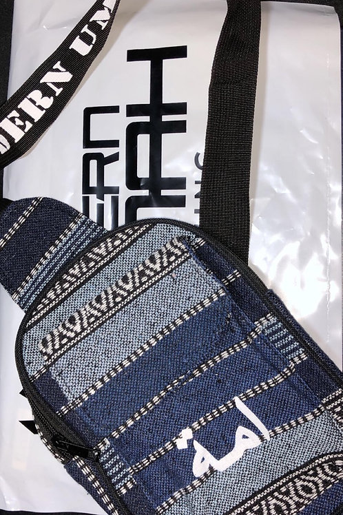 Blue Tribal Print - Sling/Side Bag