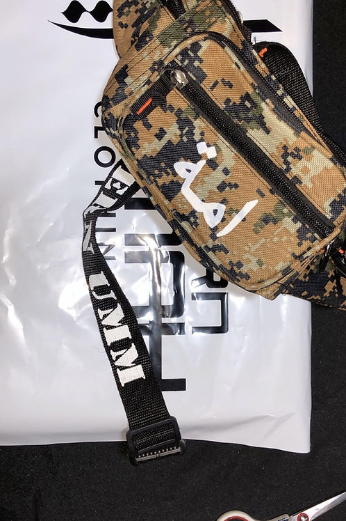 Beige/Brown Digital Camouflage - Waist Bag