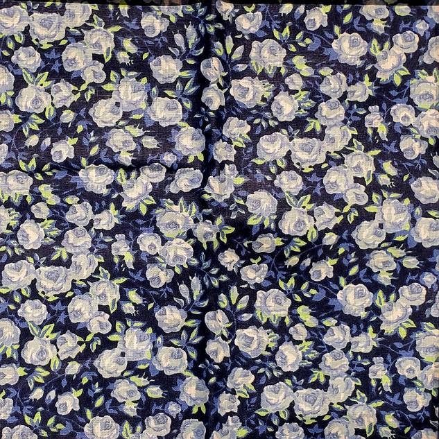 Floral - Florzinhas Azuis _ Fundo Azul M