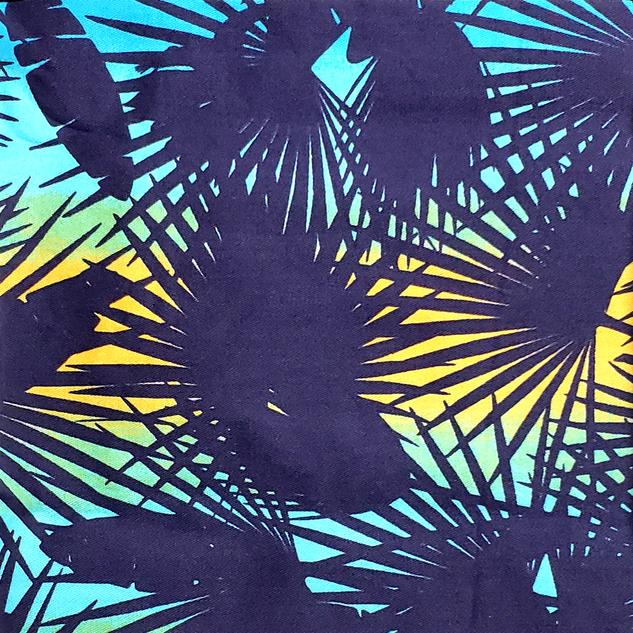 Floral - Tropical _ Fundo Azul Marinho.p