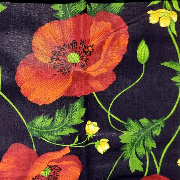 Floral - Flores Vermelhas _ Fundo Preto.