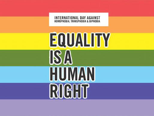 17/05: Παγκόσμια Ημέρα Κατά της Ομοφοβίας, Τρανσφοβίας και Αμφιφοβίας.