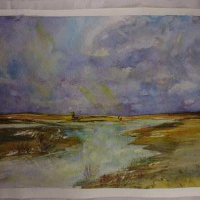Birdi Sinclair -ClairArts-Marsh Sky