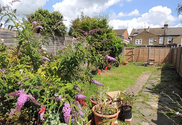 Sarah Rees Garden Blog Pic 159 wider view of summer garden.JPG