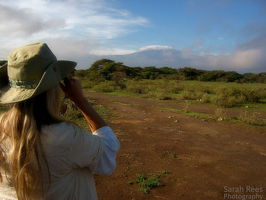 Photo of Sarah Rees in Africa