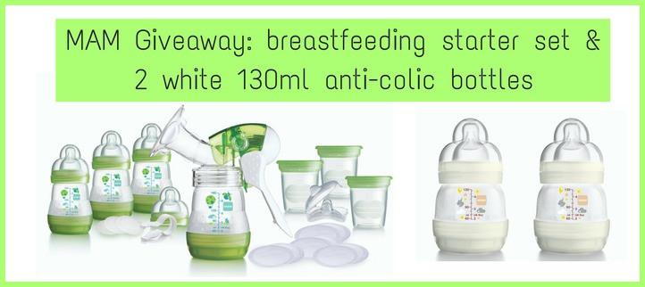 MAM Giveaway breastfeeding starter set and anti colic bottles