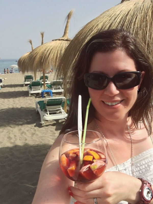 summer wine at the beach in marbella