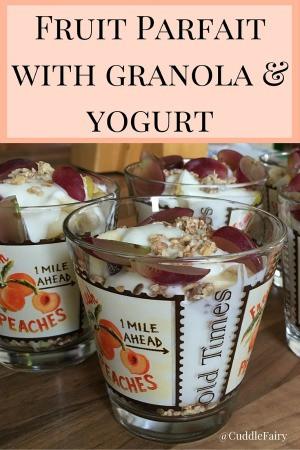 Fruit Parfait with granola & yogurt