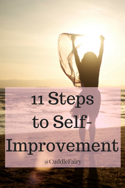 11 Steps to Self-Improvement pin