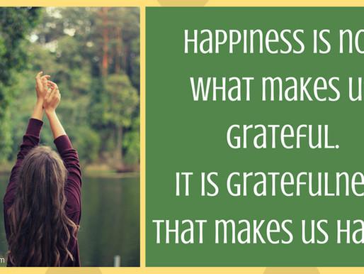 Positivity Week 11: Gratefulness Makes Us Happy