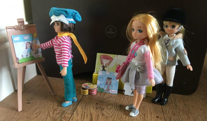 birthday girl sophia and always artsy lottie dolls