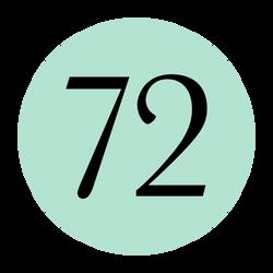 72 hair logo