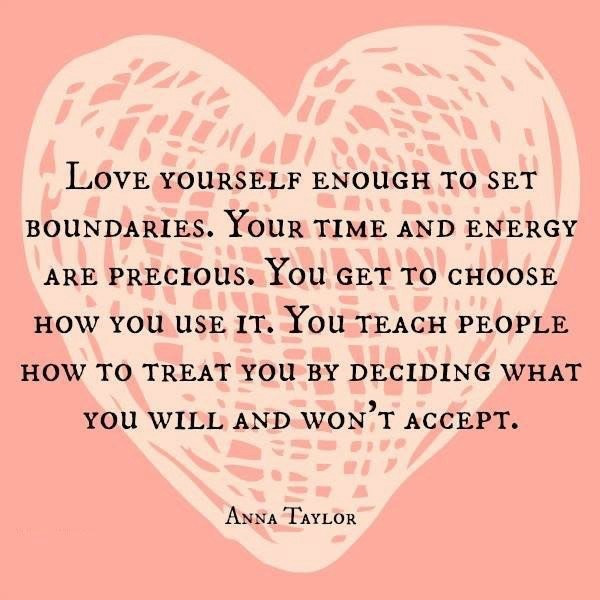 love yourself to set boundaries quote