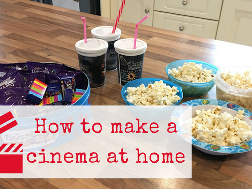 Make a Cinema at Home – a fun activity on a rainy day