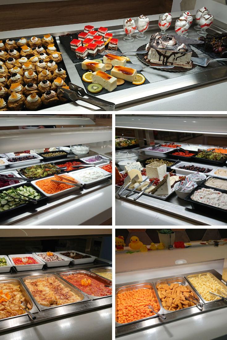 kiani beach resort all inclusive food