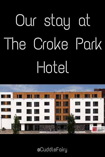 Our stay at The Croke Park Hotel pinterest image