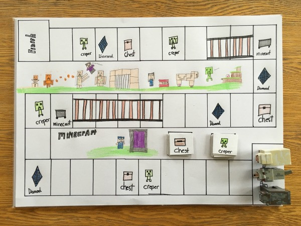 how to make a minecraft board game