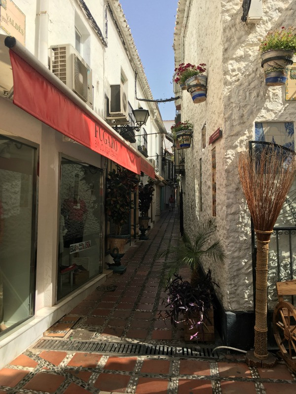 old town marbella cobbled street