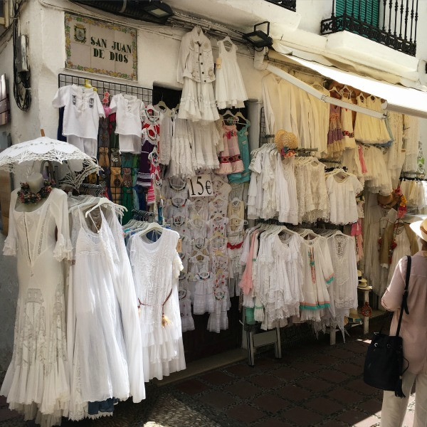 old town marbella dress shopping
