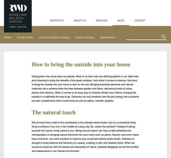 How To Bring The Outside In (Blog Post)
