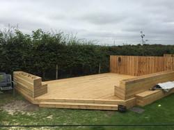 S.T. Joinery Wooden Garden Decking