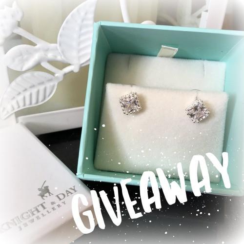 giveaway diamond stud earings
