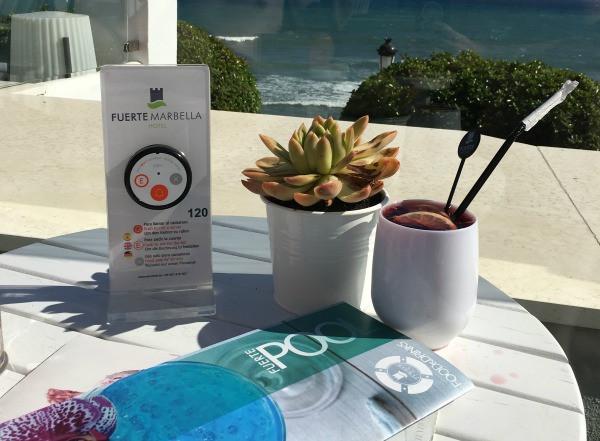summer wine at hotel fuerte marbella