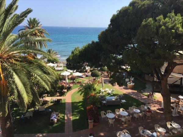 hotel fuerte marbella sea view room balcony view