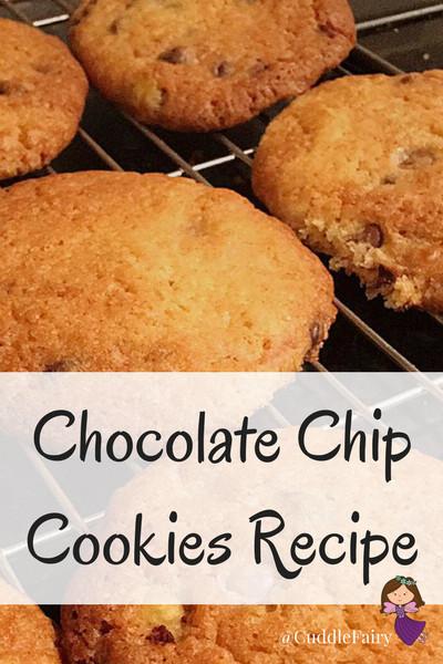 Chocolate Chip Cookies Recipe pinterest graphic