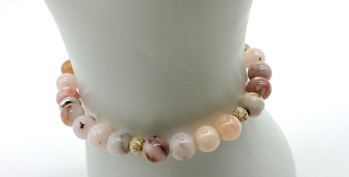 Tranquil Vibes Bracelet - Pink Peruvian Opal