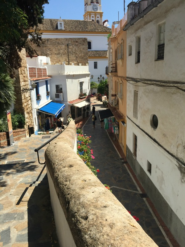 old town marbella side street day time