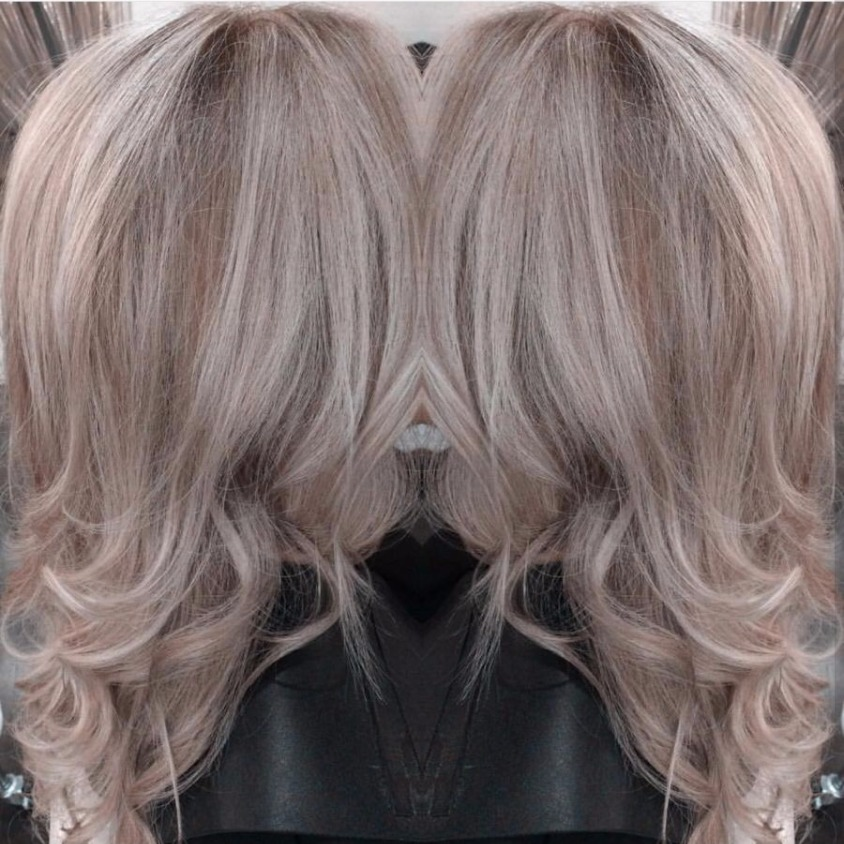 silver blonde love hair