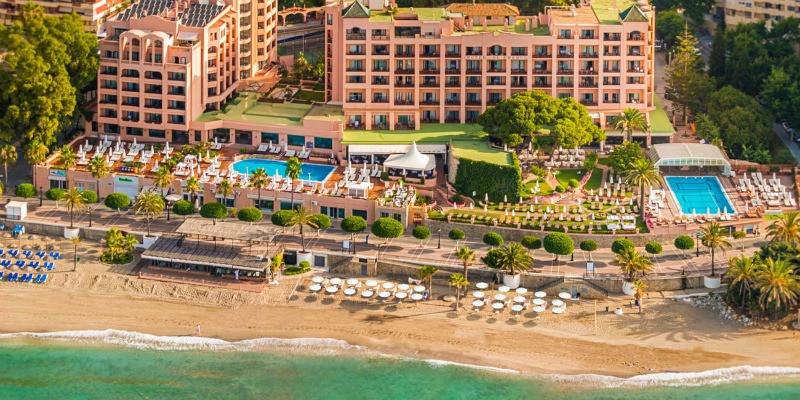 hotel fuerte marbella view from above