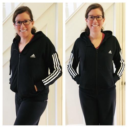 adidas 3 stripe hoody simply be