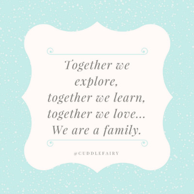 Together we explore,together we learn,together we love...We are a family.