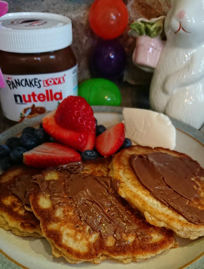 nutella pancakes - ready to eat
