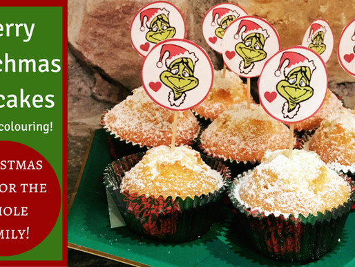 How to Make Grinch Cupcakes – without using food colouring