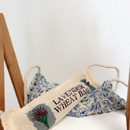 Natural Cotton Wheat Bags - Rope Handle