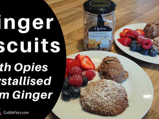 Ginger Biscuits with Opies Crystallised Stem Ginger