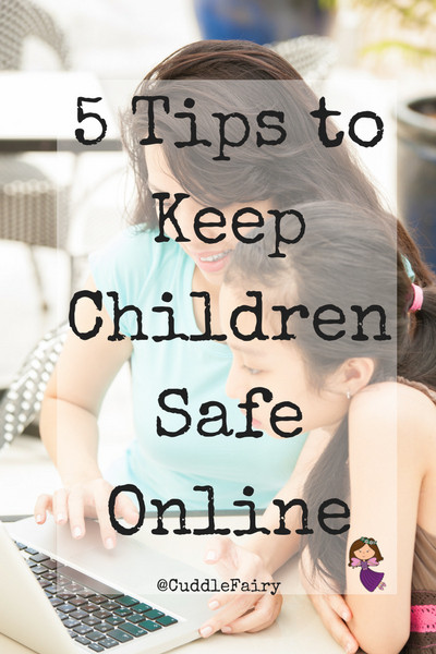 5 Tips to Keep Children Safe Online pin