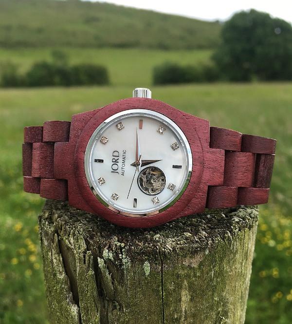 jord wrist watch on fense post west of ireland