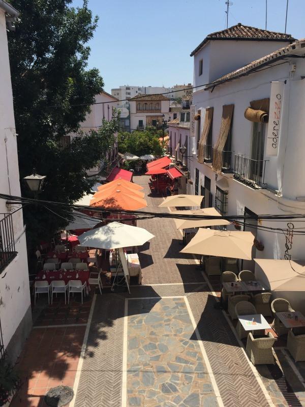 old town marbella orange square