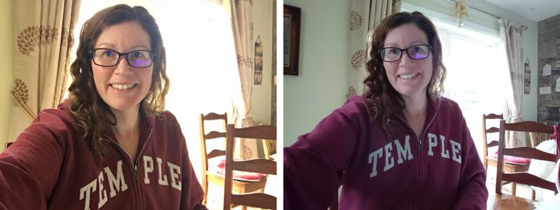 sony xperia xz1 selfie comparison