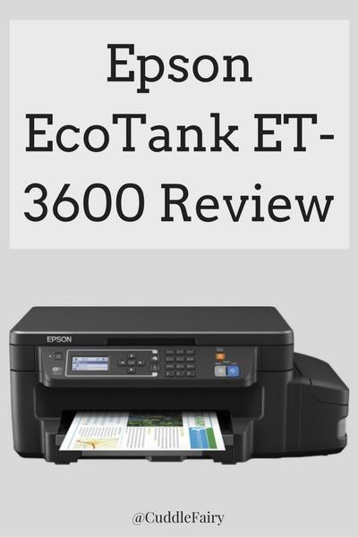 Epson EcoTank ET-3600 Review
