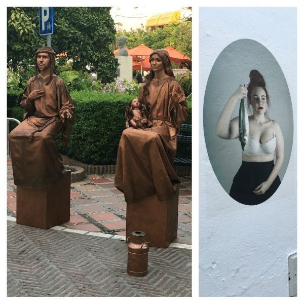 street performers in old town marbella