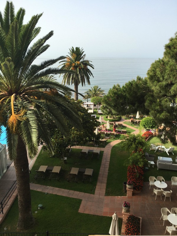 hotel fuerte marbella sea view room, view from the balcony