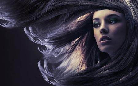 Beautiful long brown hair